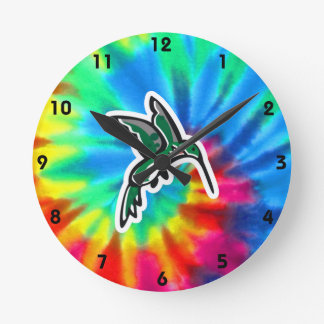 Peace, Love, Hummingbirds Round Clock