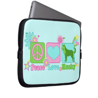 Peace Love Husky Laptop Sleeve