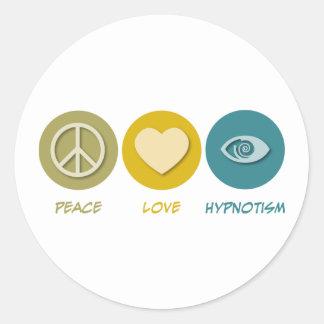 Peace Love Hypnotism Round Sticker