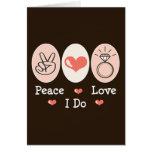 Peace Love I Do Wedding Stationery Card