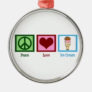 Peace Love Ice Cream Christmas Ornament
