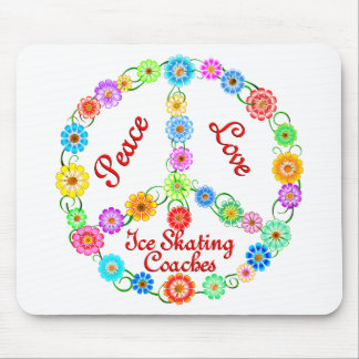 PEACE LOVE ICE SKATING COACHES MOUSE MAT