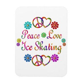 PEACE LOVE ICE SKATING VINYL MAGNETS