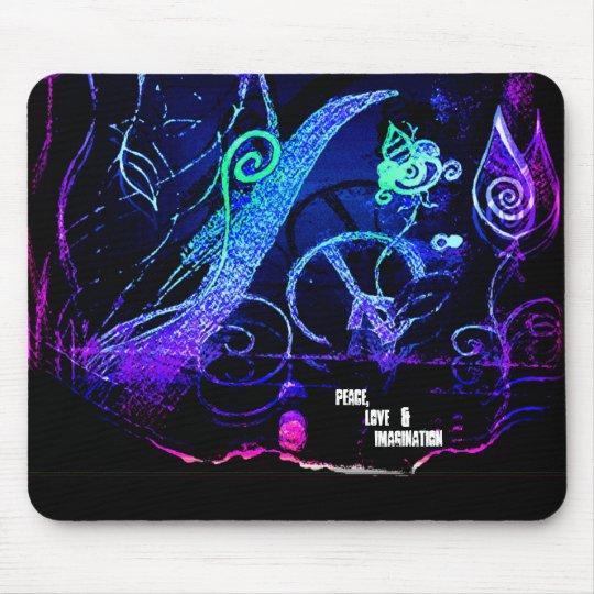 Peace, Love & Imagination mousepad