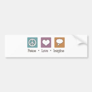 Peace Love Imagine Bumper Sticker