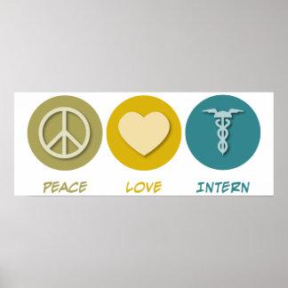 Peace Love Intern Poster