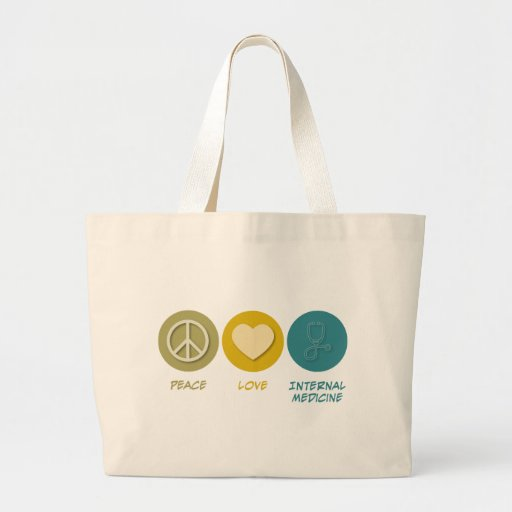 Peace Love Internal Medicine Tote Bag