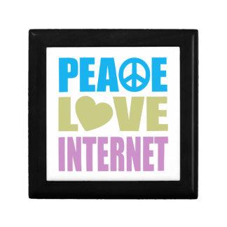 Peace Love Internet Small Square Gift Box