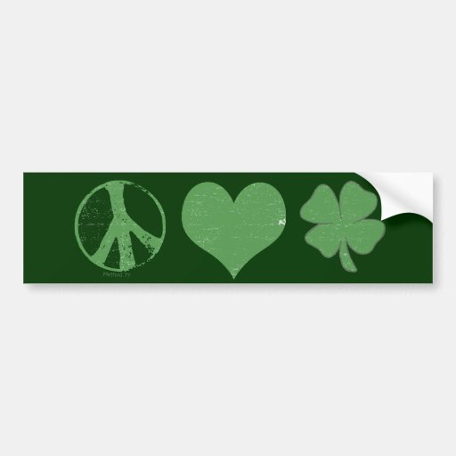 Peace Love Irish Bumper Sticker