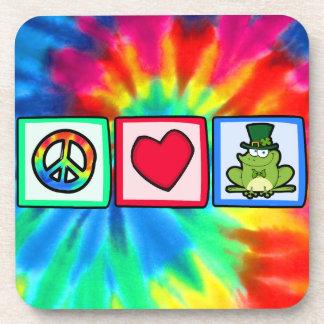 Peace, Love, Irish Frog Coaster