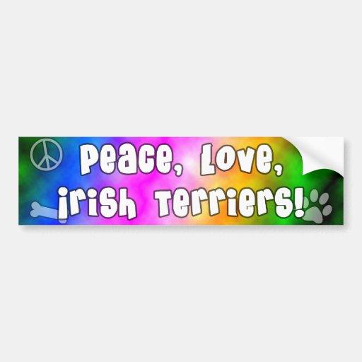 Peace Love Irish Terriers Bumper Sticker