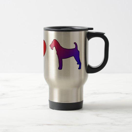 Peace Love Irish Terriers Travel Mug