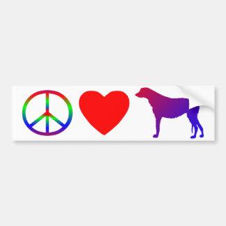 Peace Love Irish Wolfhounds Bumper Sticker