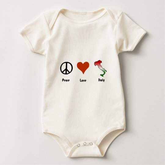 Peace, Love, Italy Baby Bodysuit