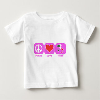 Peace Love Italy Baby T-Shirt
