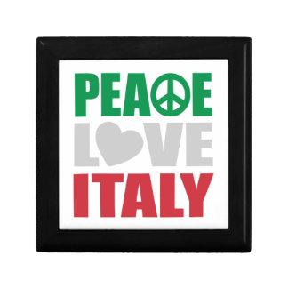 Peace Love Italy Small Square Gift Box