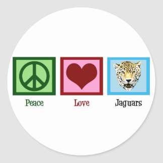 Peace Love Jaguars Classic Round Sticker