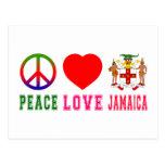 Peace Love Jamaica Post Card