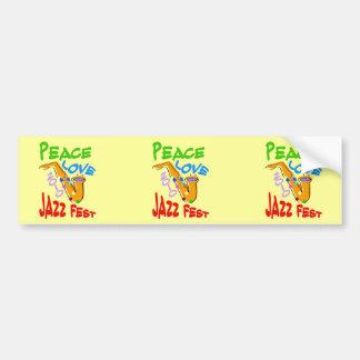 Peace Love Jazz Fest 2010, Car Bumper Sticker