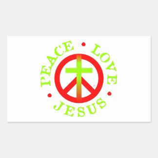 Peace Love Jesus Logo Stickers
