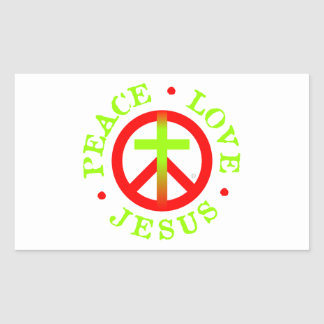 Peace Love Jesus Logo Stickers