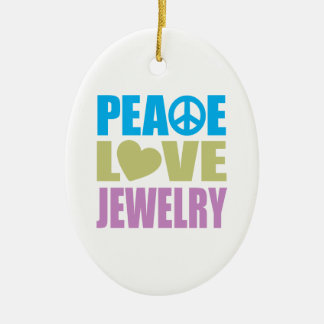 Peace Love Jewelry Christmas Ornament