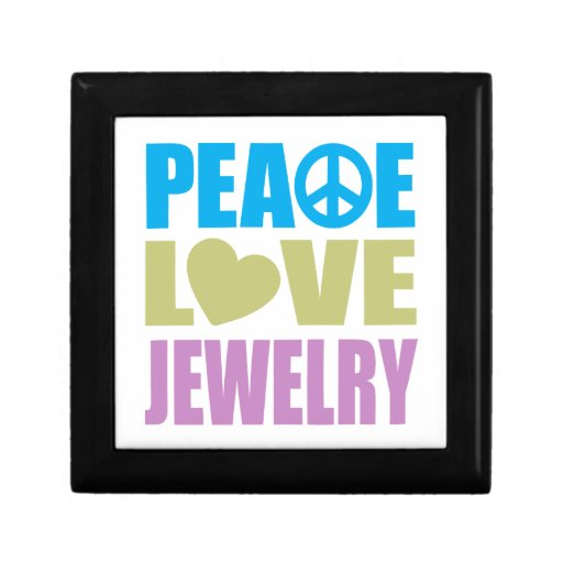 Peace Love Jewelry Jewelry Boxes