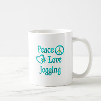 Peace Love Jogging Coffee Mug