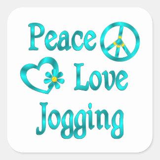 Peace Love Jogging Stickers