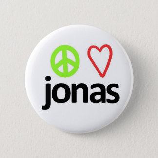 Peace, Love, Jonas 6 Cm Round Badge