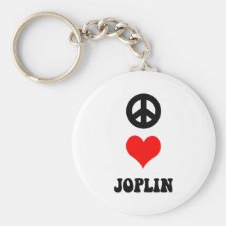 PEACE LOVE JOPLIN KEY RING