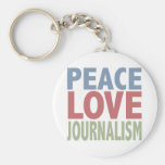 Peace Love Journalism Keychains