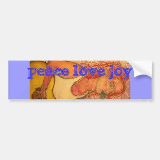 peace love joy acoustic girl bumper sticker