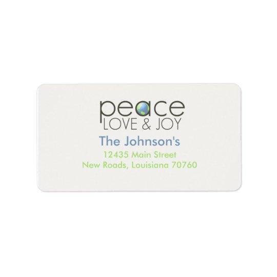 Peace Love & Joy Address Label