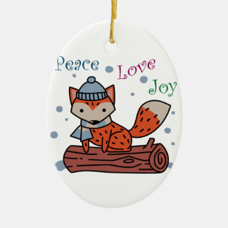 Peace Love Joy Ceramic Oval Decoration