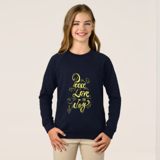"""Peace Love Joy"" Christmas (blue) - Xmas gifts Sweatshirt"