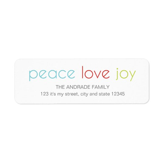 Peace Love Joy Christmas Holiday Blue Red Green