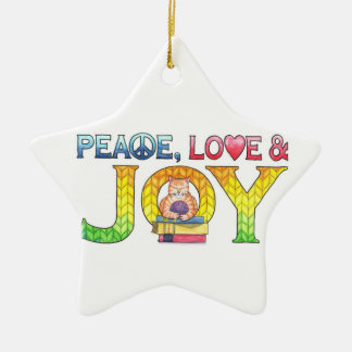 Peace, Love & Joy Christmas Ornament