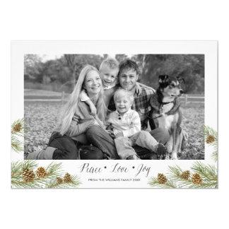 Peace Love Joy - Christmas Photo  Card 13 Cm X 18 Cm Invitation Card