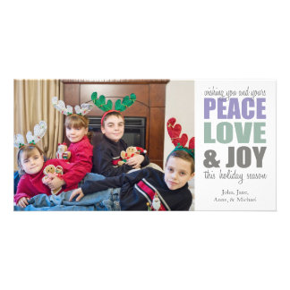 Peace Love & Joy Christmas Photocards Card