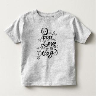 """Peace Love Joy"" Christmas - Xmas gifts Toddler T-Shirt"