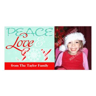 Peace Love & JOY (Custom) Holiday Photo Card