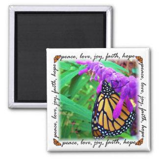 peace, love, joy, faith, hope magnet