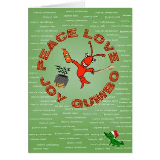 Peace,Love,Joy,GUMBO Louisiana Christmas Card