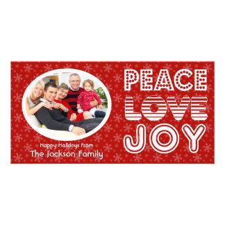 Peace Love Joy Happy Holidays Card