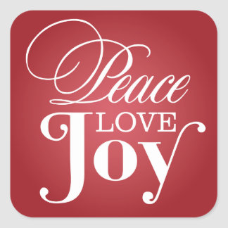 PEACE LOVE JOY | HOLIDAY ENVELOPE SEAL
