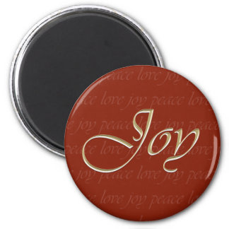 Peace Love Joy Holiday Magnet