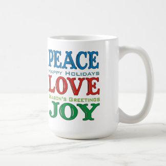 Peace Love Joy Holiday Mug