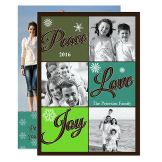 Peace Love Joy Holiday Photo Card 13 Cm X 18 Cm Invitation Card