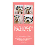 Peace Love Joy Holiday photo collage Coral